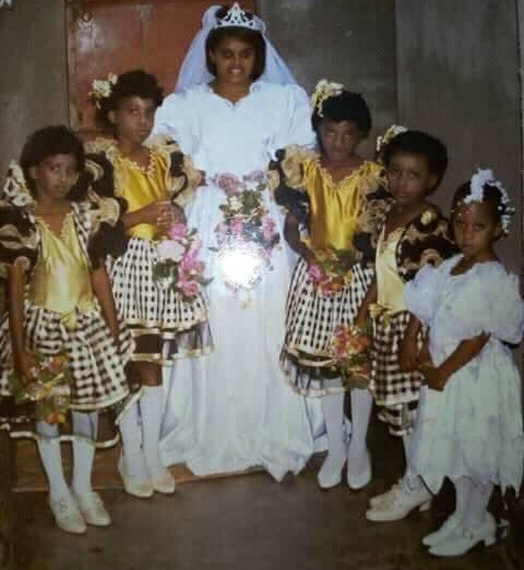 Man recounts how his mother made him a little bride at a wedding