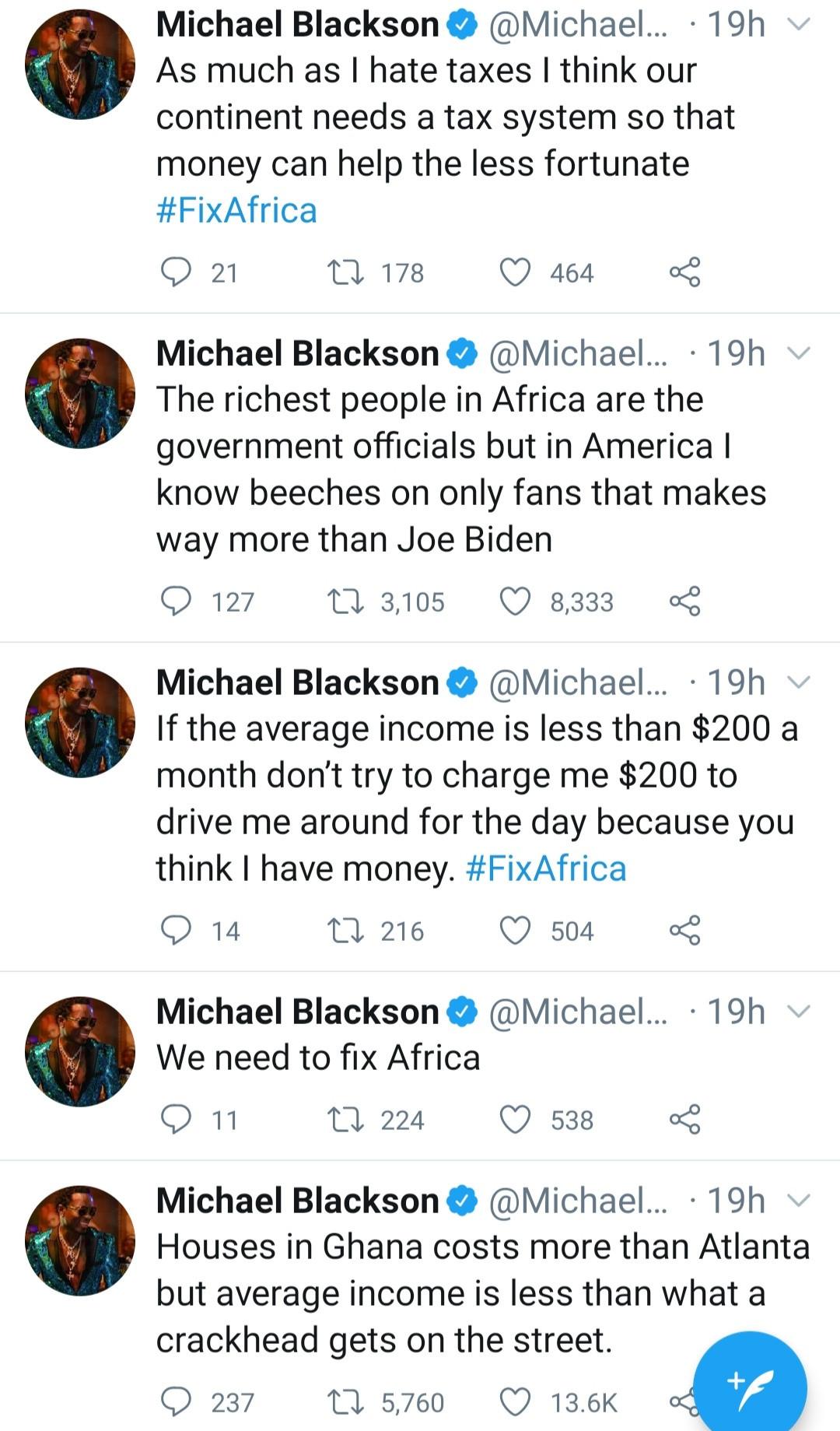 Comedian, Michael Blackson