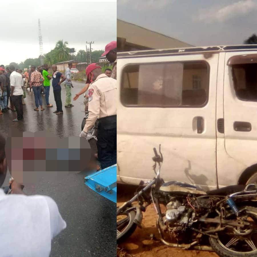 Motorcyclist killed while driving against traffic in Anambra (photos)