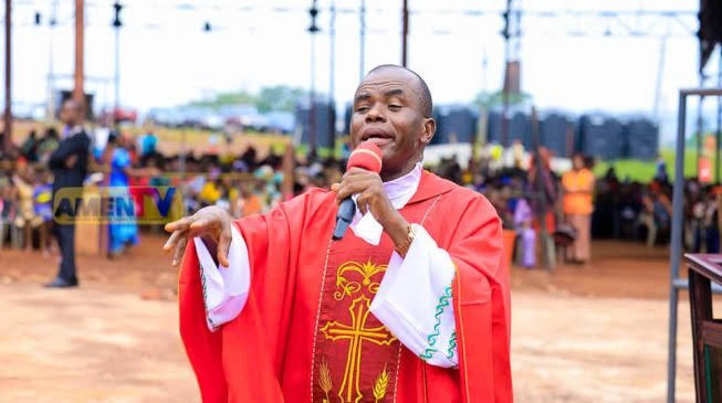 Protests rock Enugu following report of Father Mbaka allegedly missing, Ohanaeze Youth Congress gives FG 48 hours to