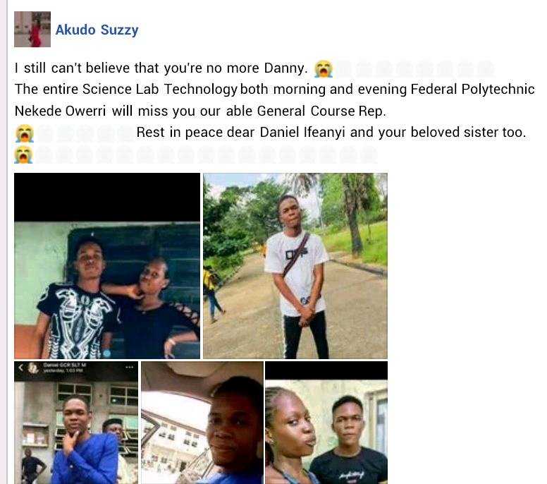 Imo Poly student and his sister die in ghastly auto crash while travelling to Port Harcourt  for their mother