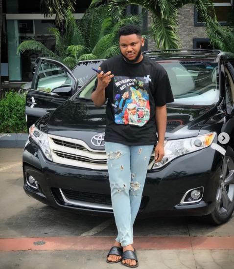 Actor Somadina Adinma buys a new car