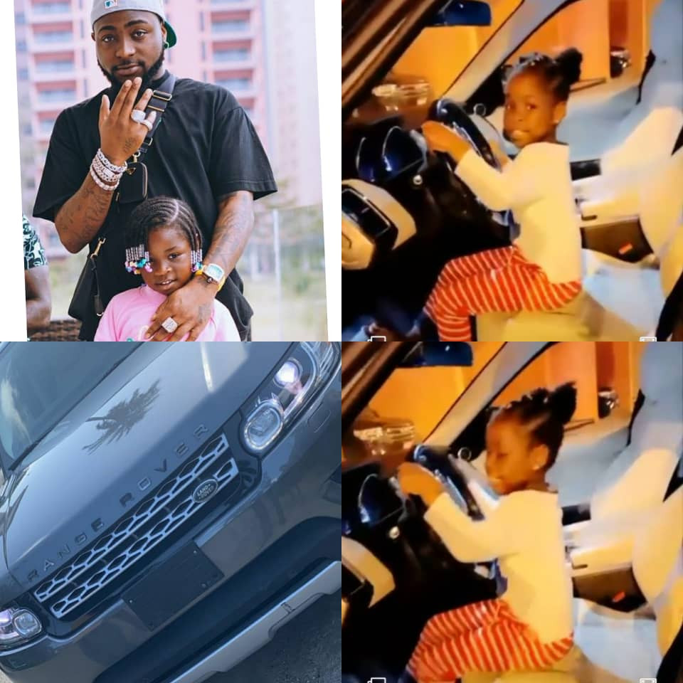 Davido gifts his daughter a Range Rover as an early birthday present (video)