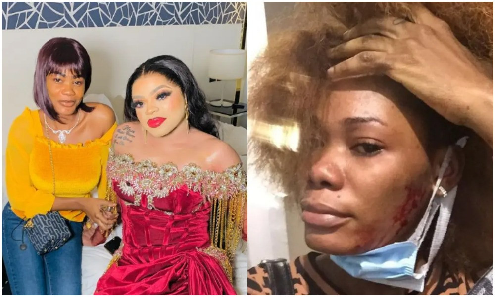 You want to be a girl so badly but your di*k is still under you - Ivorian lady who Bobrisky took in after she tattooed his name on her body accuses him of assaulting her (video)