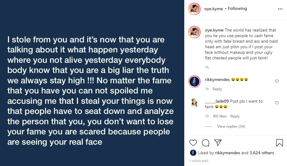 """""""If I post your face without makeup people will faint""""- Ivorian lady, Oye Kyme slams Bobrisky"""