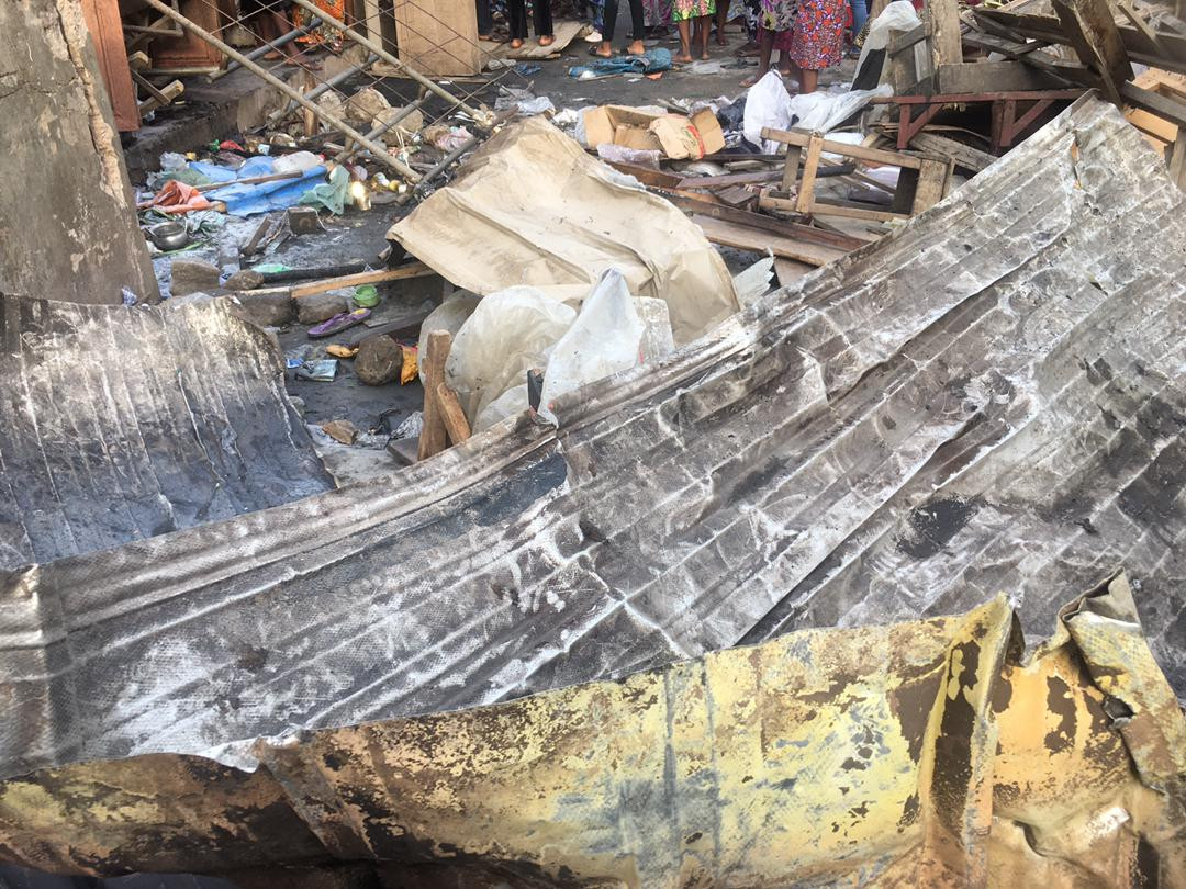 Lagos market fire was caused by explosives ? LASEMA