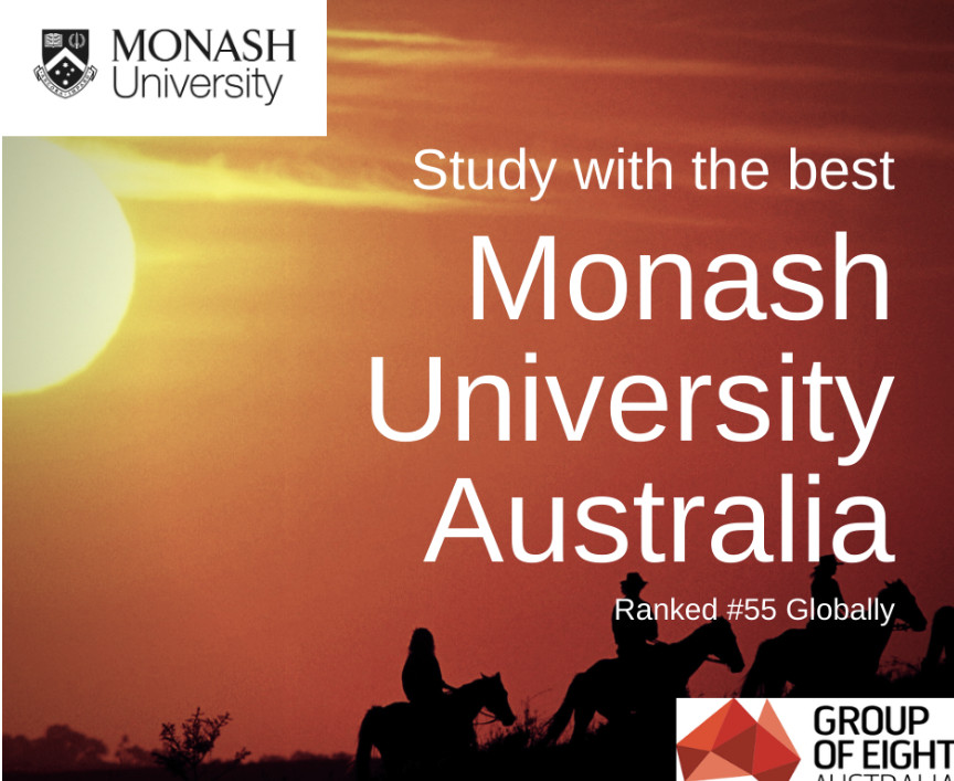 Study with the best... Monash University Australia