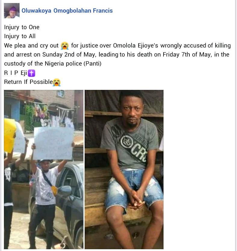 Video: Protest rocks Ikorodu as man dies in police custody after alleged unlawful arrest