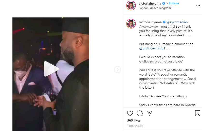 Only a fool assumes 6 is 9 by avoiding the main source of the gist - Actress Victoria Inyama reacts to Comedian AY