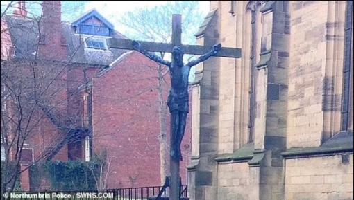 six-foot bronze crucifix worth £20,000