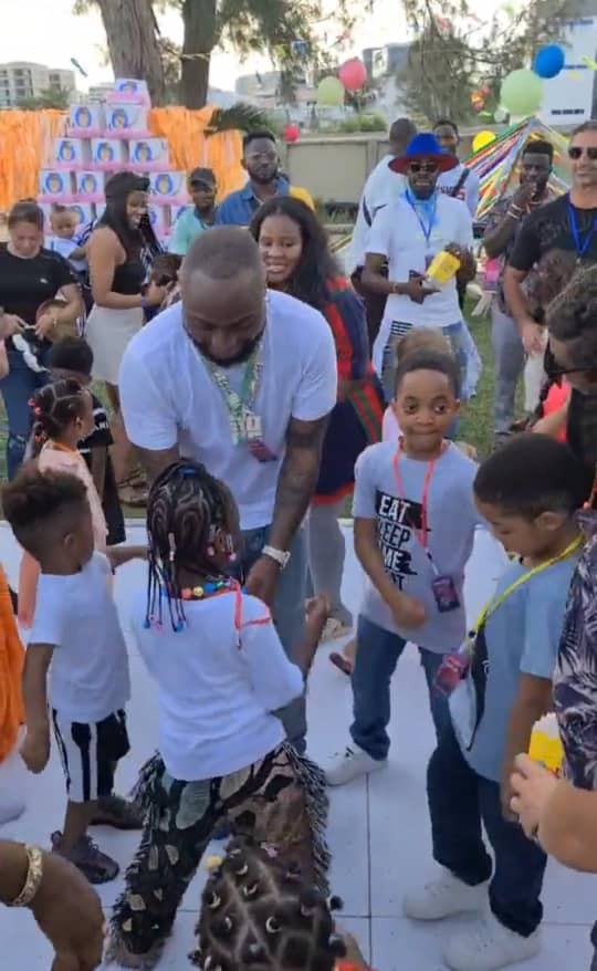 Singer, Davido Throws Birthday Party For His Daughter Imade (Photo/Video)