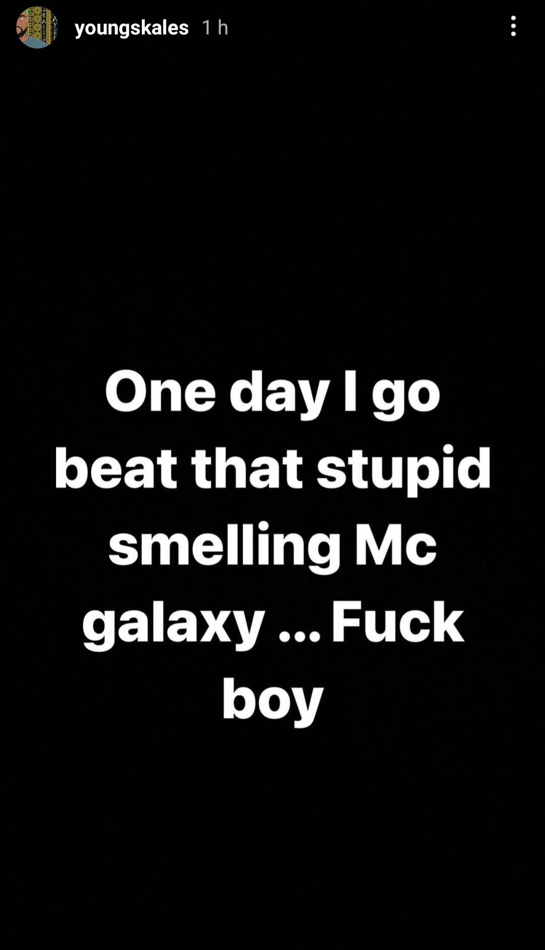Rapper, Skales, calls singer, MC Galaxy, names and threatens to beat him
