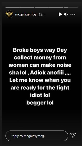 Singer, MC Galaxy responds after rapper, Skales, threatened to beat him; calls him a beggar