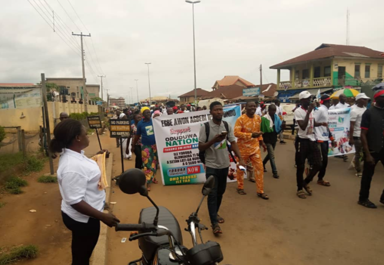 Yoruba Nation agitators storm the streets in Ondo (photos)