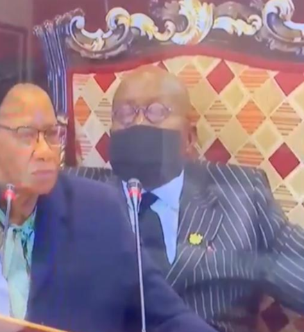 Watch moment Ghana?s 77-year-old President, Nana Akufo-Addo dozed off at the recently concluded Africa Financing Summit in France (video)