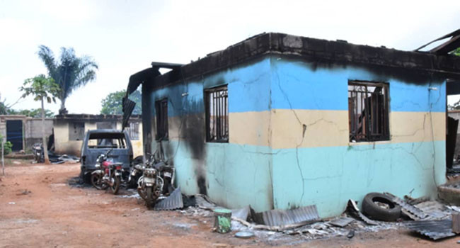 Four police officers killed as gunmen burn down Iwollo police division in Enugu