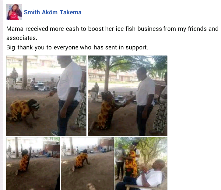 Update: Petty trader receives cash donation from friends of Governor Ortom