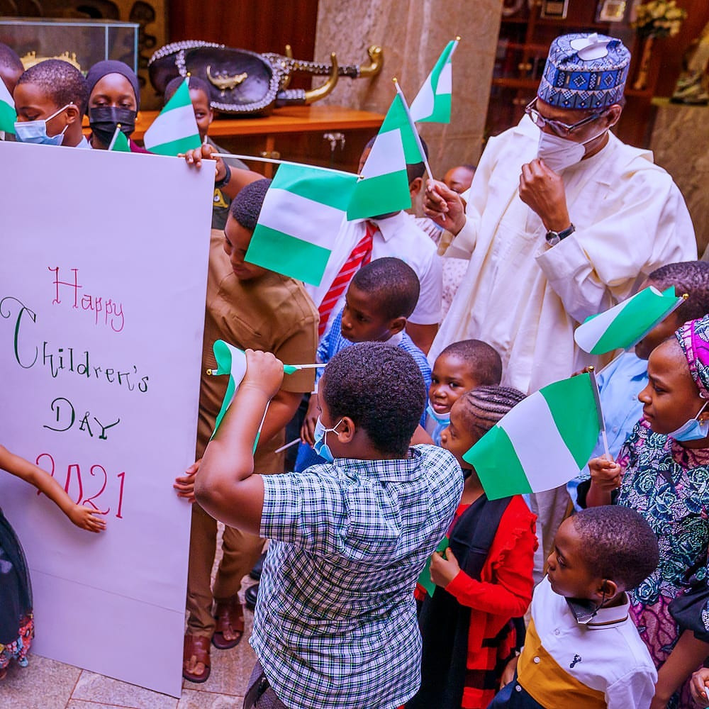 Children's Day: Buhari celebrate with children in the State House