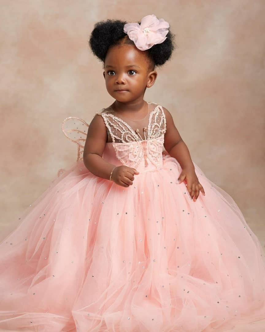 Singers, Simi and Adekunle, share lovely photos with their daughter, Adejare, as she turns one today
