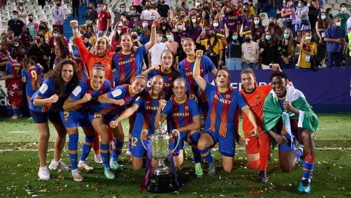 Asisat Oshoala wins the treble with Barcelona (Photos)