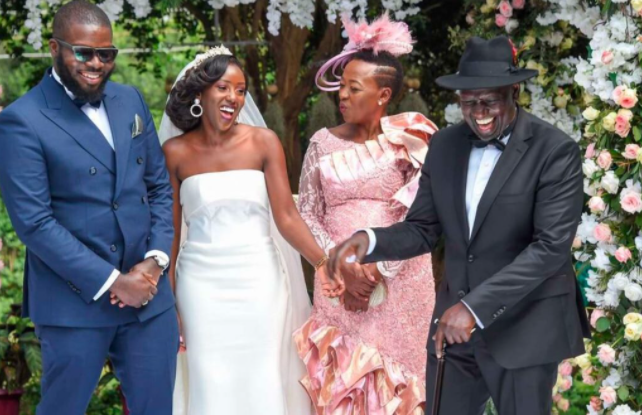 """""""It is much more difficult if you are giving away your daughter to Nigerians"""" Vice President of Kenya says as his daughter weds Nigerian man (photos)"""