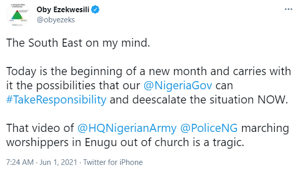 Insecurity: The President must end the dangerous tide in th South East now - Oby Ezekwesili