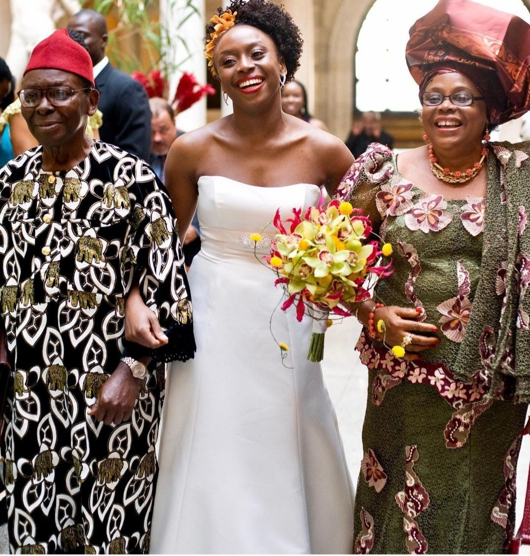 Chimamanda Adichie shares photos from her wedding as she reveals how she broke with convention to inspire young women/men