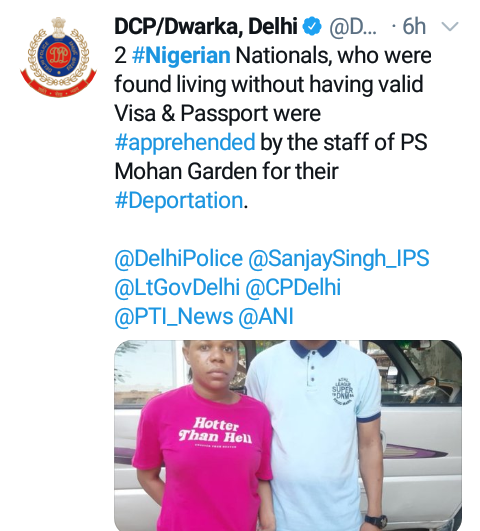 Two more Nigerian nationals arrested for illegal stay in India