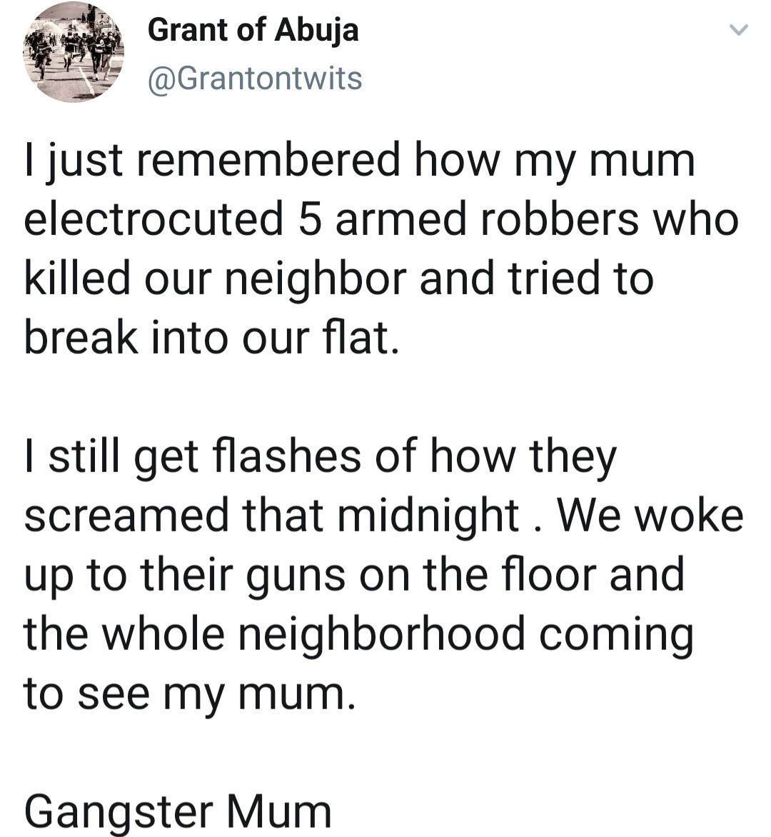 Man recounts how his mother allegedly dealt with armed robbers who tried to break into their house