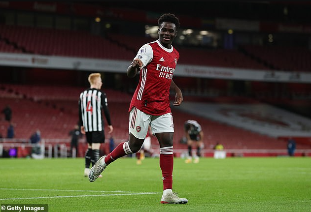 Bukayo Saka wins Arsenal Player of the Season award