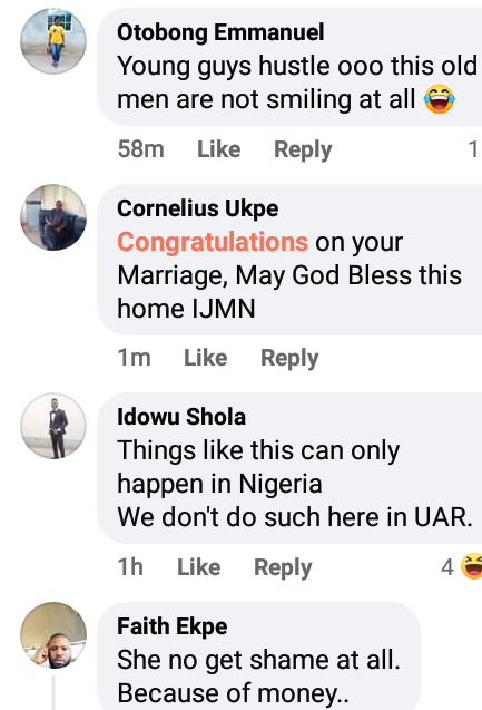 """""""These old men know how to take care of us"""" - Nigerians react as young Akwa Ibom lady marries her older lover"""