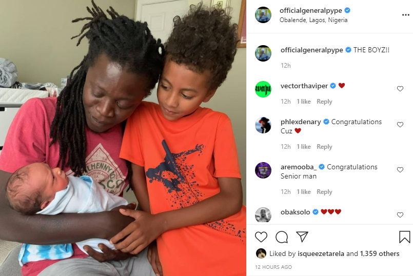 Singer General Pype welcomes his second child
