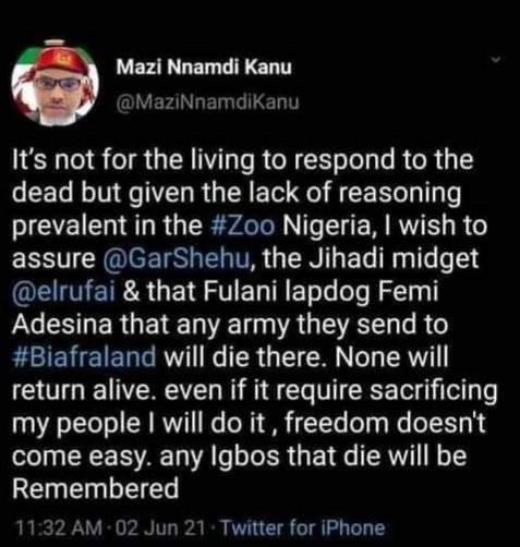 Twitter deletes Nnamdi Kanu?s tweets