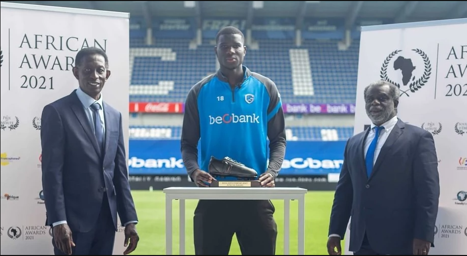 Super Eagles striker, Paul Onuachu wins African best player in Belgium