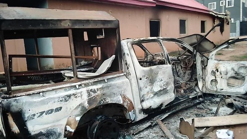 Traders set vigilante office ablaze in Umuahia