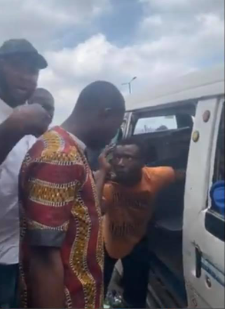Area boy apprehended after reportedly harassing a female passenger (video)