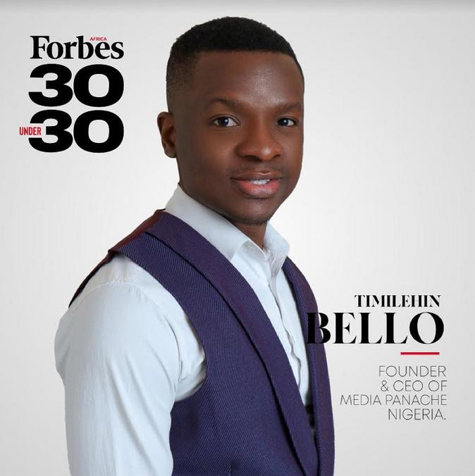 Nigerian PR Expert Timilehin Bello makes 2021 Forbes Africa 30 Under 30 list
