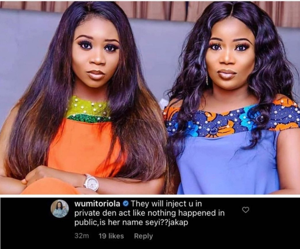 """""""They will inject you in private then act like nothing happened in public"""" Wumi Toriola shades former friend Seyi Edun"""