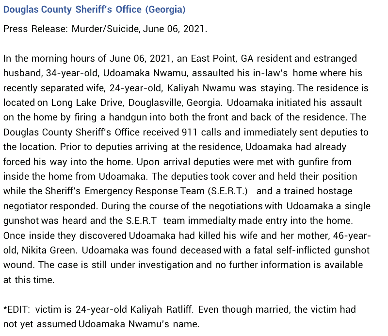 34-year-old Nigerian man kills estranged wife, mother-in-law, then commits suicide in U.S