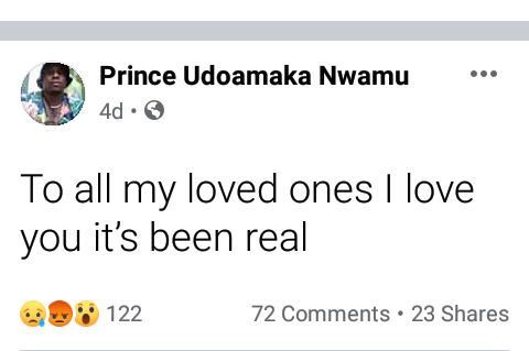 """Update: """"To all my loved ones I love you"""" - Nigerian man"""