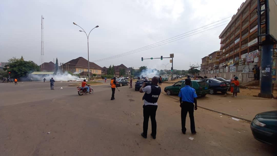 Police allegedly teargas June 12 protesters in Abuja (photos)