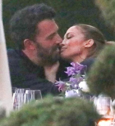 Jennifer Lopez and Ben Affleck seen kissing at dinner party after reuniting