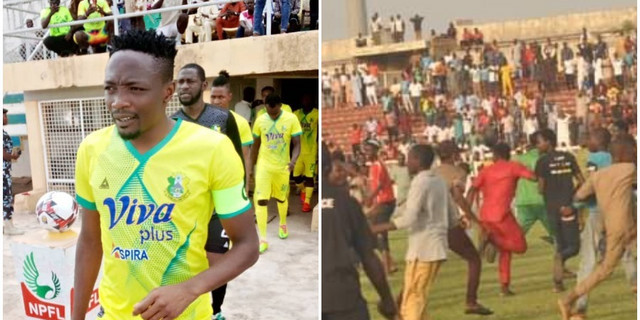 Ahmed Musa expresses his disappointment over crowd troubles in the Nigeria Professional Football League