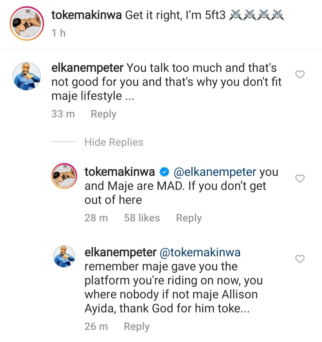 """""""You and Maje are mad"""" Toke slams follower taking sides with her ex-husband"""