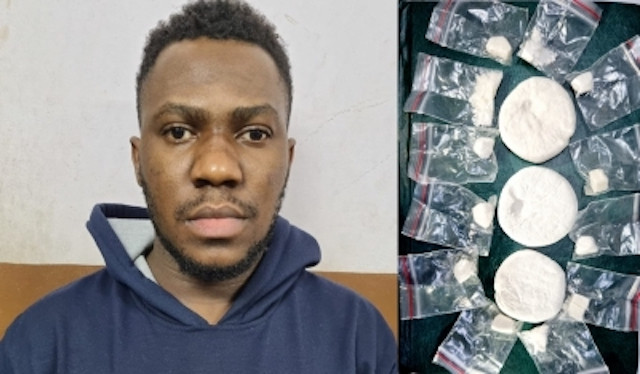 Indian police arrest Nigerian man for allegedly selling cocaine (photos)