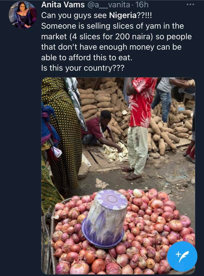 Slices of yam now reportedly sold in Nigeria as food prices increase
