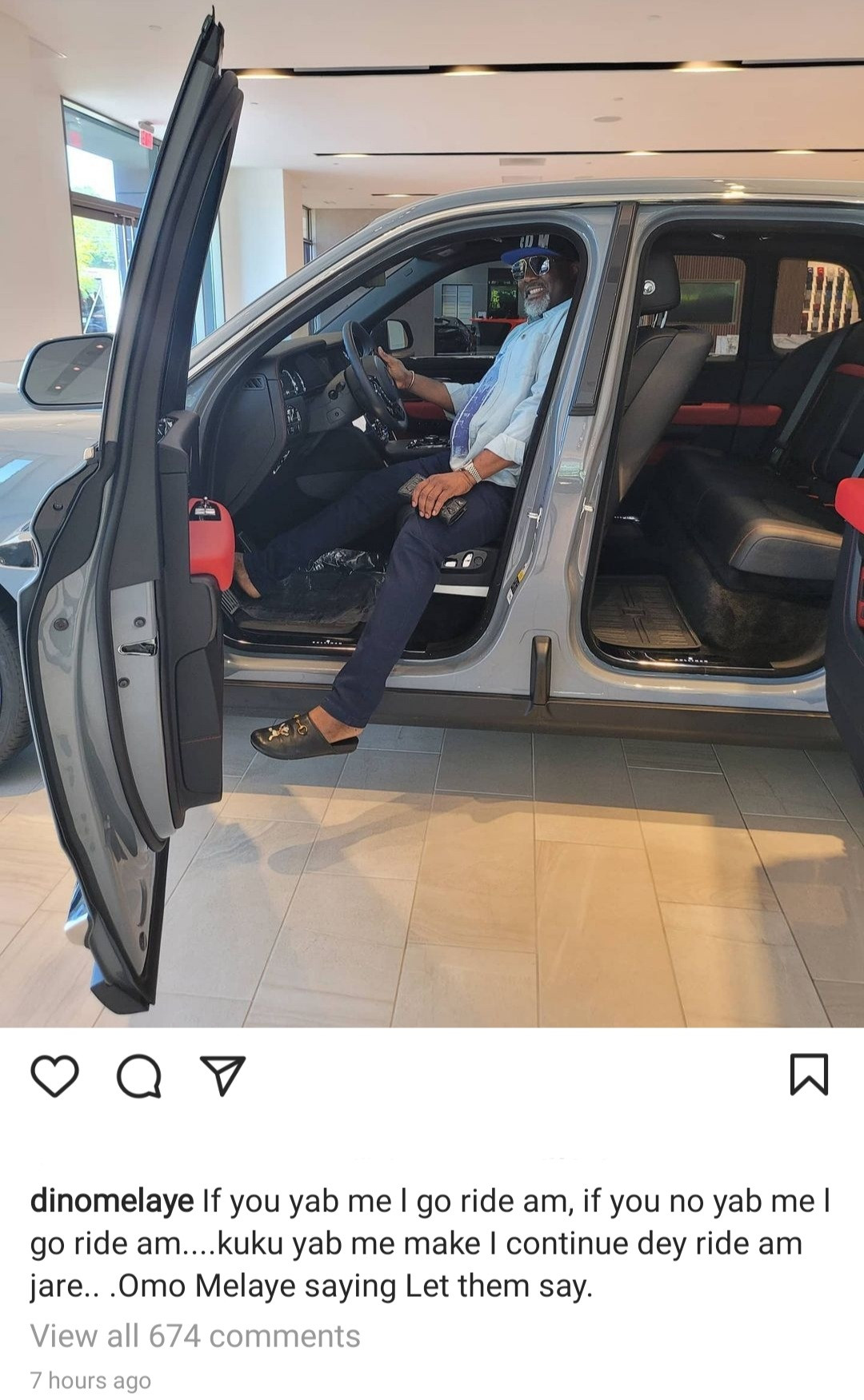 """""""Please pay up sir,"""" Automobile sales company accuses Dino Melaye of unpaid debt after he flaunted his new Rolls Royce Cullinan"""