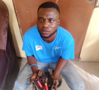 Two traffic robbers apprehended in Lagos (photos)