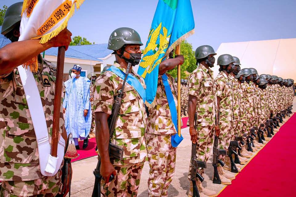 More photos of President Buhari in Borno