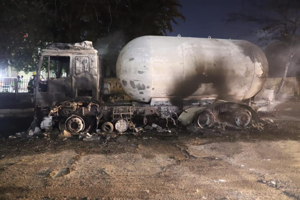 Gas tanker explodes in Ikeja (photos/video)